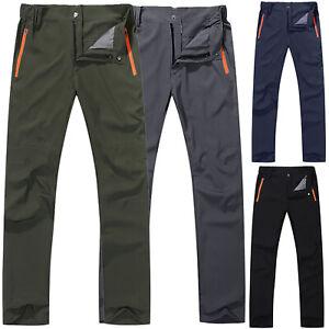 Mens Soft Walking Camping Cargo Pants Hiking Climbing Work Casual Long Trousers