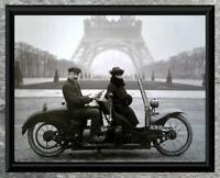 Brilliant... 1920's - 3 Wheel Motorcycle, Paris France . Vintage 5x7 Photo Print