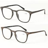 Men Women Retro Vintage Full Frame Magnetic Reading Glasses Readers +1.0 ~ +4.0~