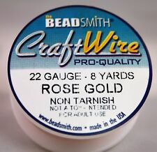 Beadsmith Craft Wire Pro Quality Rose Gold 22 Gauge 8 Yards