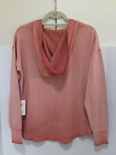 $53 NEW RIP CURL WOMEN'S SUN SHADOW PULLOVER TOP MEDIUM DUSTY ROSE C233
