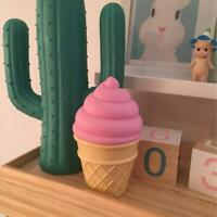 Ice Cream Cone Shaped Night Light Desk Table LED Lamp for Kids Bedroom Decor  US