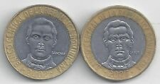 2 BI-METAL 5 PESO COIN from the DOMINICAN REPUBLIC DATING 2002 & 2007
