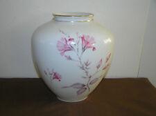 Antique Krautheim Floral Porcelain Vase Gold Gild.