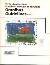 The Work Sampling System Omnibus Guidelines 4th Ed Book SC