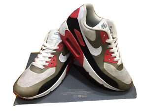 Mens Nike  Air Max  90 Hyperfuse Trainers Size 6  White Black Red