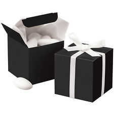 "Black Wedding Gift Box Favor Candy Bridal Shower Favor Present 2"" x 2"" 24 pack"