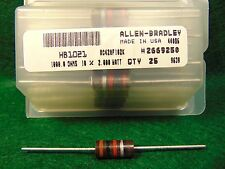 Lot of 5 Allen Bradley AB Carbon Comp 1K 1000 OHM 2 Watt 10% Resistors NOS NIB
