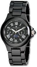 Mens Charles Hubert Black Ceramic Multifunction Watch
