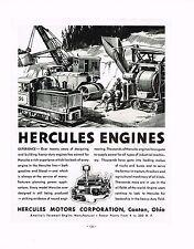 1936 BIG Vintage Hercules Motors Engine Industrial Machinery Art Print Ad