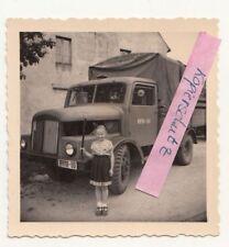 Foto S4000 ? LKW RH16-00 kleines Mädchen Oldtimer DDR um 1955/60 (F2231