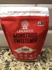 Lakanto Monk Fruit Sweetener All Natural Sugar Substitute Classic White 16oz
