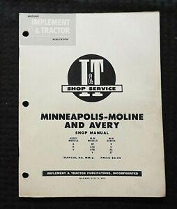 1953 MINNEAPOLIS MOLINE ABF GTA GTB V R U ZA ZT TRACTOR I & T REPAIR SHOP MANUAL