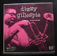 Dizzy Gillespie - Jazz Recital LP VG+ V-8173 Mono Verve USA Vinyl Record