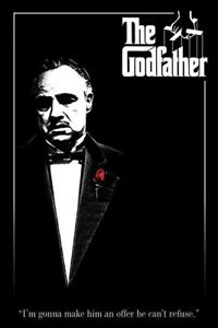 """The Godfather - Movie Poster (VIto Corleone - Red Rose) (Size: 24"""" X 36"""")"""