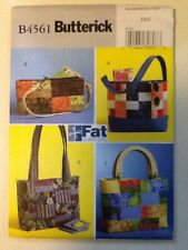 Butterick Pattern B4561 OSZ Fat Quarters Handbag Uncut