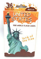 Flash Cards United States - Ages 5+ - 36 Cards NEW!