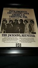 The Jacksons Rare Original Victory Tour Pepsi Promo Poster Ad Framed!
