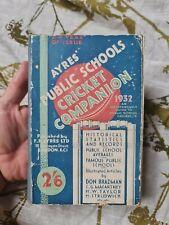 More details for ayres public schools cricket companion 1932 don bradman