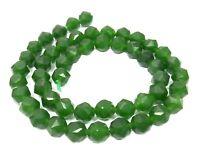 😏 Grüne Jade facettierte Kugeln 7 mm NATUR Edelsteinperlen Strang für Kette 😉