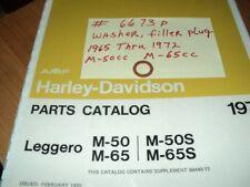 1969 HARLEY AERMACCHI M-65CC LEGGERO WASHER, FILLER PLUG   6673P  AMF