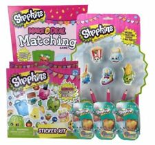 Shopkins Bundle: Matching Game, 3- 2 Character Baskets, Stickers, & More
