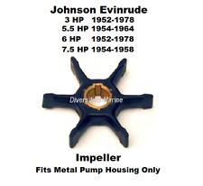 Johnson Evinrude Water Pump Impeller 3  5.5  6  7.5 HP See Chart