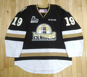 CCM Patrick LeBlanc QMJHL Charlottetown Islanders Game Worn Alternate Jersey 56