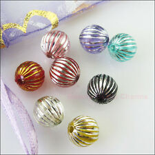 30Pcs Mixed Acrylic Plastic Round Ball Lantern Spacer Beads Charms DIY 10mm
