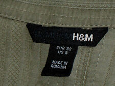 H&M CollaredCottonMixHookFront3/4Slvd Sz10 as NEW