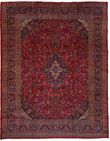 """Hand-knotted Carpet 9'8"""" x 12'6"""" Traditional Wool Rug...DISCOUNTED !"""
