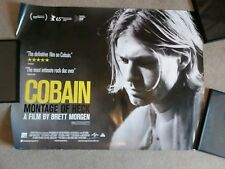 Kurt Cobain Montage of Heck UK Cinema Quad Poster Rare and in VG Condition.