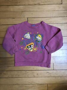 Vintage Kids Rugrats Sweatshirt Pink USA 1996 90s Nickelodeon XS/S