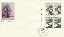 CANADA #1256 38¢ CHRISTMAS WINTER LANDSCAPES UL PLATE BLOCK FIRST DAY COVER