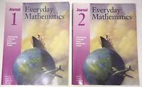 Everyday Mathematics Fourth Grade 4 Student Math Journal Set Vol 1 & 2 - 1999
