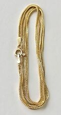 Uno-A-Erre Italy 14K Solid Yellow Gold Link Chain Necklace 21""