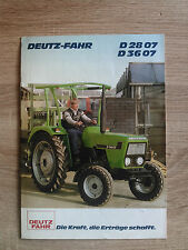 Original Deutz D2807 D3607 Traktor  Prospekt