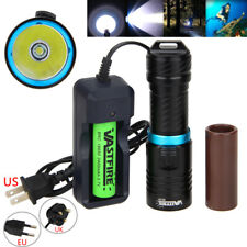 Waterproof 10000Lm T6 LED Scuba Diving Flashlight Underwater Torch 18650 26650