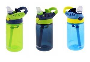3x Contigo Kids Autospout Water Bottles for kids BPA FREE Spill Proof 414ml