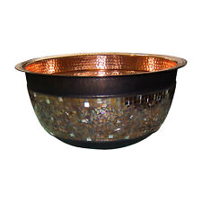 GLASS MOSAIC COPPER SINK