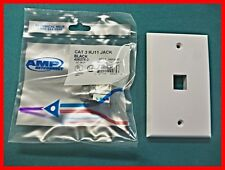 AMP 406375-2 Modular Ethernet Connectors  RJ11 + Wall Plate  Tyco  110  (Qnty 1)