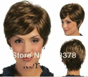 Hot Style Wig New Fashion Elegant Women's Short Brown Natural Full Wigs