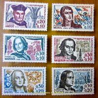 EBS France 1963 Famous People - Célébrités Amyot Marivaux etc MNH** YT1370-1375