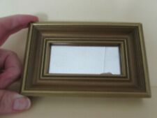 """Vintage 5 1/2 x 3 1/2"""" gold framed decorative wall hanging mirror"""