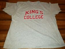 Vtg Champion King's College Wlikes Barre PA Mens XXL T Shirt  Made in USA gray