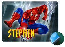 Personalised Spiderman Place Mat- Design 1 - Wipe clean EVA Sponge Backed