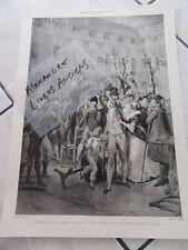 GRANDE GRAVURE LITHOGRAPHIE 1900 CAMILLE DESMOULINS AU PALAIS ROYAL PRENDRE ARME