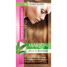 MARION Hair Color Shampoo in Sachet Lasting 4 to 8 Washes Aloe and Keratin - 62