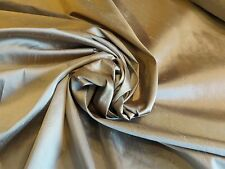 Iridescent Silk Shantung in Beige, woven in two shades of light beige