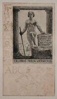 Bruno Héroux - Ex Libris für Friedrich Soennecken - Radierung - o. J.